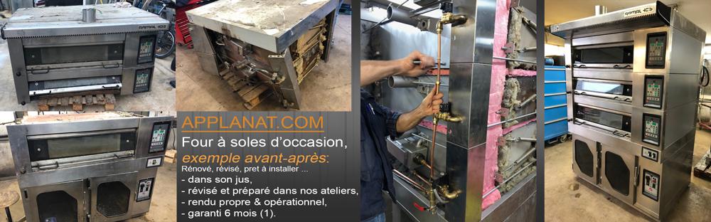 exemple de préparation d'un four à sole pour la boulangerie patisserie d'occasion rénové dans les ateliers Applanat