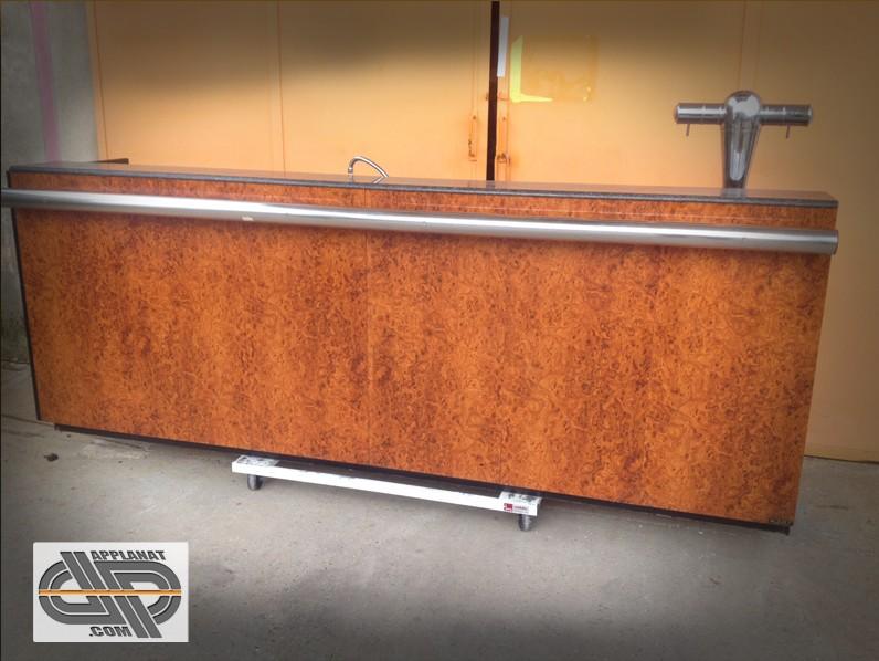 Comptoir de bar 3m 4 portes tirage bi re occasion vendu - Comptoir des cotonniers occasion ...