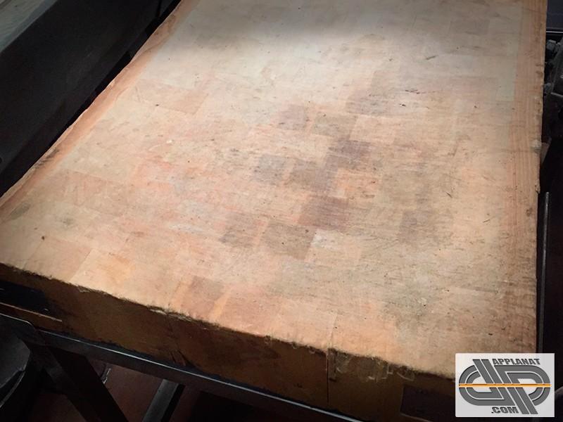 billot de boucher sur socle inox 60 x 70 cm occasion nous consulter. Black Bedroom Furniture Sets. Home Design Ideas