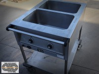 Chariot bain-marie 2 x GN 1/1 - BLANCO - SAW 2