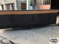 Comptoir de bar 4m20 - piste granit noir galbée 918de64c812b
