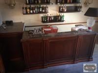 Petit comptoir de bar retro chic + arrière bar porte vitrée 90 cm 3bc1c8be41ca
