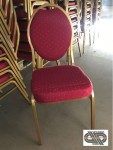 Lot 60 chaises réception luxe « or & pourpre»