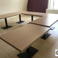 Lot 8 tables restaurant plateaux stratifiés