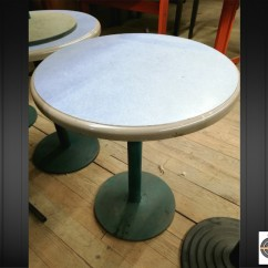Lot 7 tables bistrot ronde Ø60