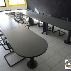 Ensemble de tables de réunion en U – 5m50 x 2m50