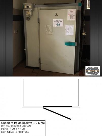 Petite Chambre Froide Positive Professionnelle ± 2,5 M3 , DAGARD, Avec  Grande Porte