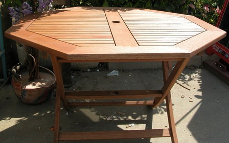 Salon de jardin en bois exotique occasion - VENDU