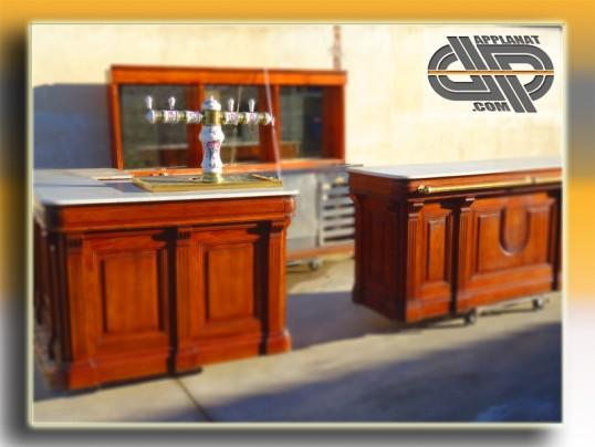 comptoir de bar r tro en 2 parties occasion nous consulter. Black Bedroom Furniture Sets. Home Design Ideas