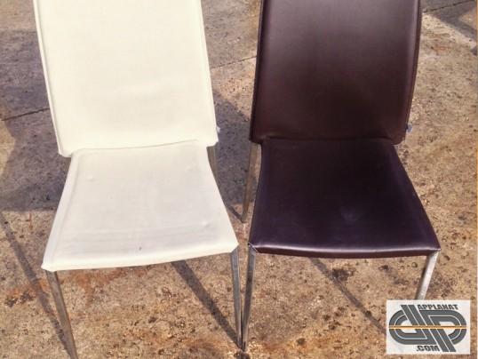 lot de 16 chaises bistrot chrome pvc metro nelly occasion vendu. Black Bedroom Furniture Sets. Home Design Ideas