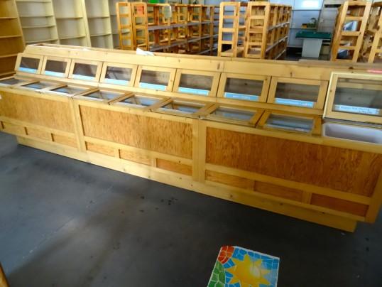 Ilot central bois libre service 3m60 rayon vrac magasin for Vente bois flotte vrac