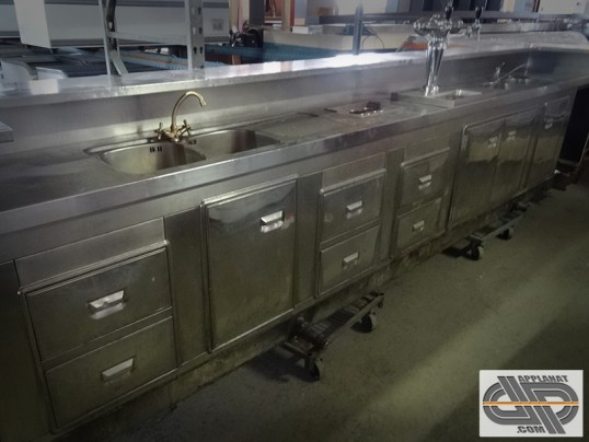Comptoir de bar r frig r 5 m tres groupe distance occasion vendu - Comptoir refrigere occasion ...