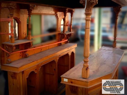 comptoir bar banque d accueil kiosque bois naturel style montagnard occasion nous consulter. Black Bedroom Furniture Sets. Home Design Ideas