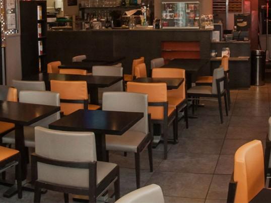 lot mobilier restaurant th me orange gris chaises fauteuils tabourets 70 pi ces. Black Bedroom Furniture Sets. Home Design Ideas