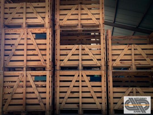 Caisse Palette Bois Occasion - Caisse palette bois Format 100×120 ,à portillon amovible occasion VENDU