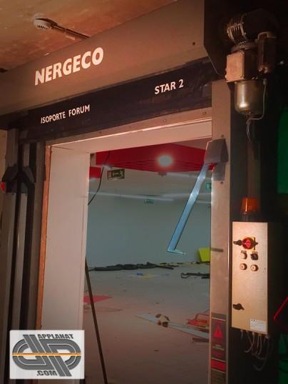 Porte souple enroulement rapide nergeco star 2 occasion vendu - Porte sectionnelle industrielle occasion ...