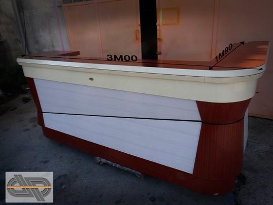 unique ensemble comptoir bar formica v ritable 3m00 vintage occasion vendu. Black Bedroom Furniture Sets. Home Design Ideas