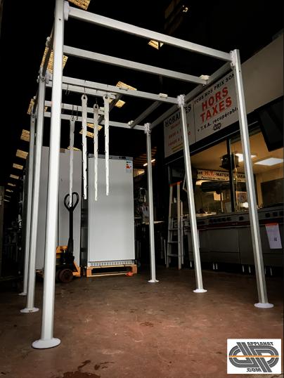 Portique aluminium pour chambre froide 160 x 190 cm - Chambre froide d occasion belgique ...