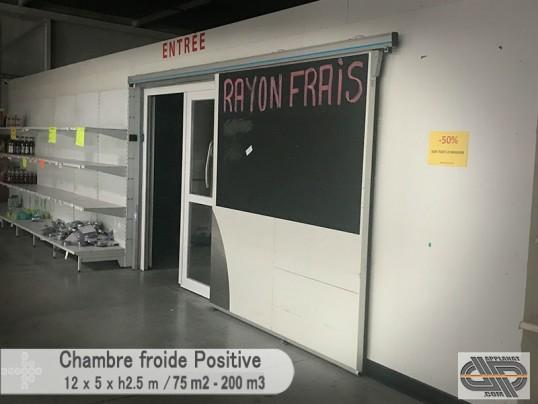 Grande chambre froide positive 0 c 4 c 200 m3 75 - Chambre froide d occasion belgique ...
