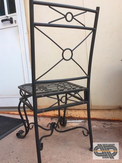 lot de 66 chaises fer forg noir occasion vendu. Black Bedroom Furniture Sets. Home Design Ideas