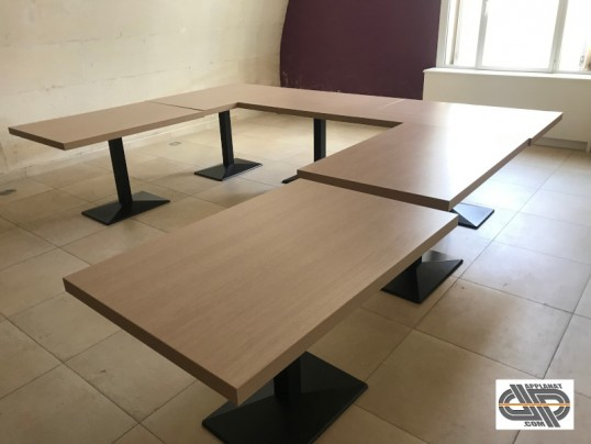 lot de 8 tables chr rectangle pro occasion
