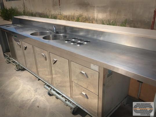 Comptoir de bar r frig r 4m00 coloris sable occasion vendu - Comptoir refrigere occasion ...