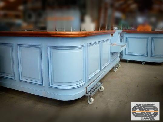 ensemble comptoir bar en l style r tro 4m25 occasion vendu. Black Bedroom Furniture Sets. Home Design Ideas