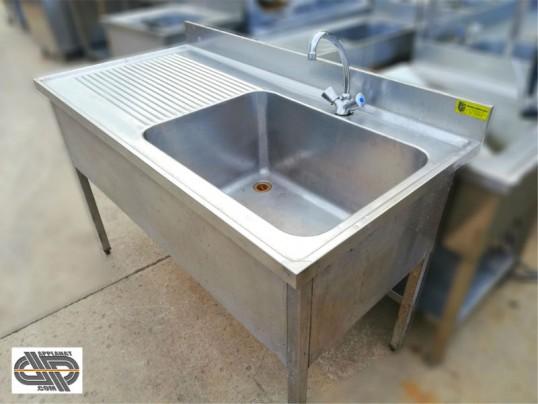 Plonge inox professionnelle 1400 x 700 mm occasion nous consulter - Evier inox professionnel occasion ...