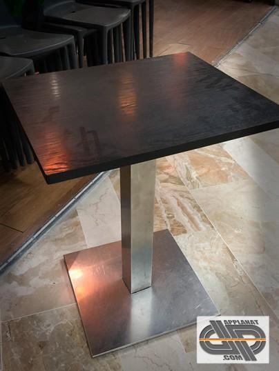 lot de 12 tables bistrot plateau weng 50x60 occasion vendu. Black Bedroom Furniture Sets. Home Design Ideas