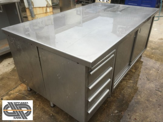 table inox a grand plateau , construction tout inox