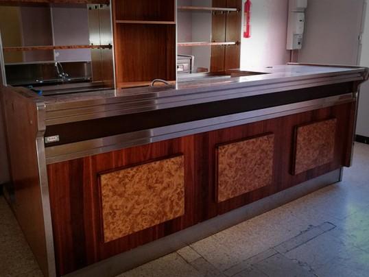 Comptoir de bar 3m00 r frig r piste inox rebord antiruissellement occasion vendu - Comptoir refrigere occasion ...
