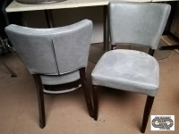 Lot 37 chaises restaurant grises simili cuir