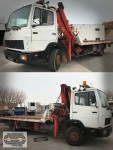 Camion MERCEDES 1317/49 - Grue + Plateau coulissant & treuil