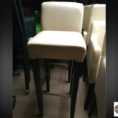 Lot 11 tabourets restaurant beige simili cuir