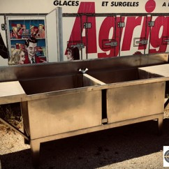 Grosse plonge professionnelle inox 3m10 eviers gros volumes